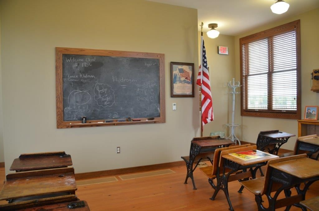 Historical classroom chalkboard