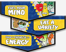 Nutrition Character Banners