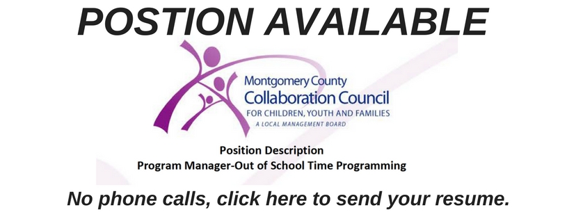 Position Description  Program Manager-Out of School Time Programming