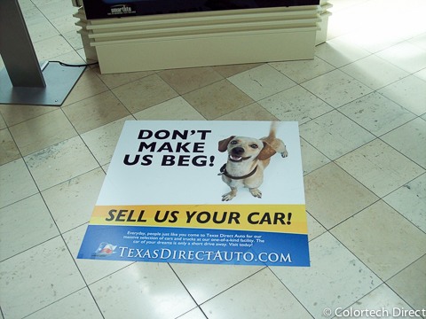 Mall Floor Graphics