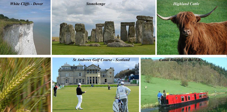 Various destinations in United Kingdom