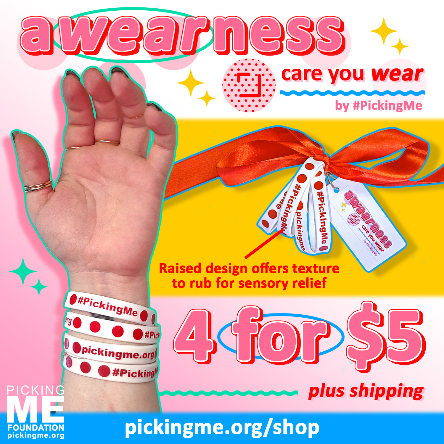#PickingMe Awearness Bracelets