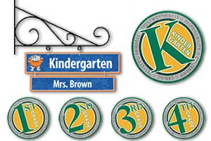 Room, Teacher & Grade Level Signs