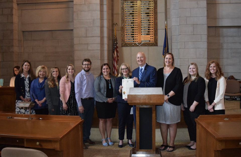 Announcement of Nebraska Overdose Awareness Week with Governor Ricketts
