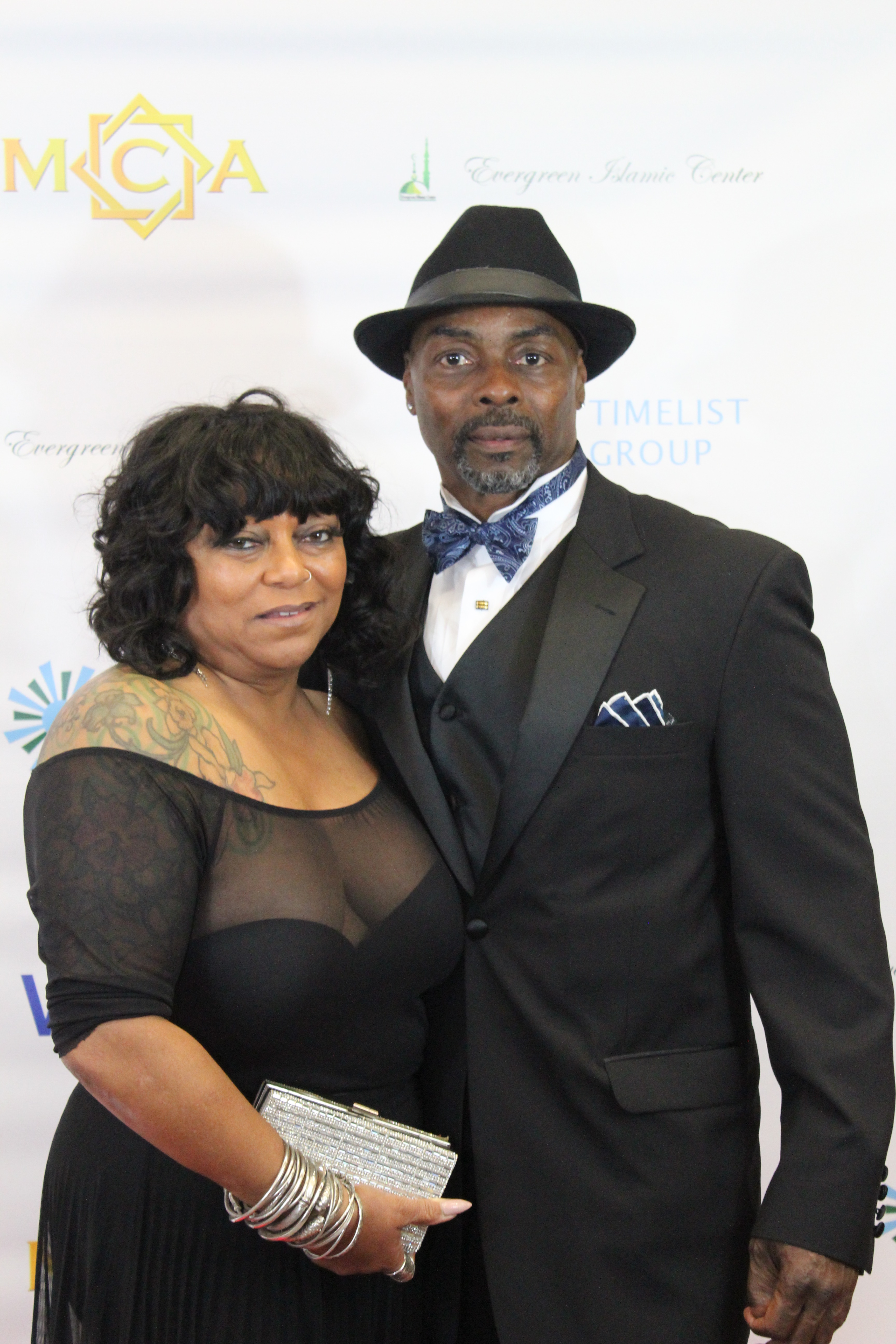 Harold Moore with Fiance'