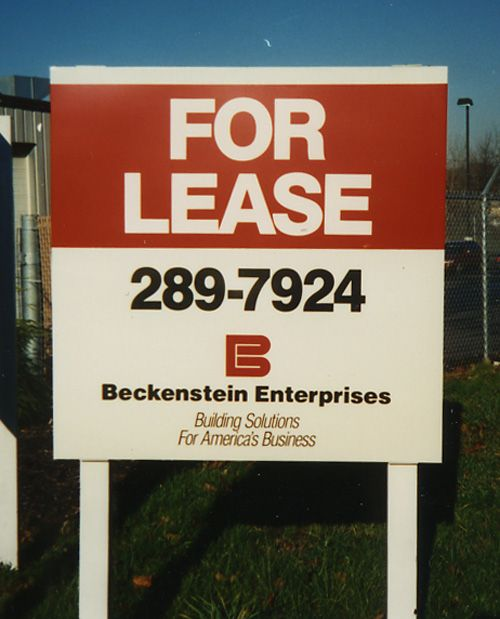 "Real Estate ""For Lease"" Post & Panel Sign 4 ft  x 4ft"