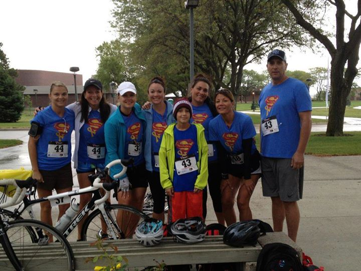 Superheroes at the Columbus Duathalon