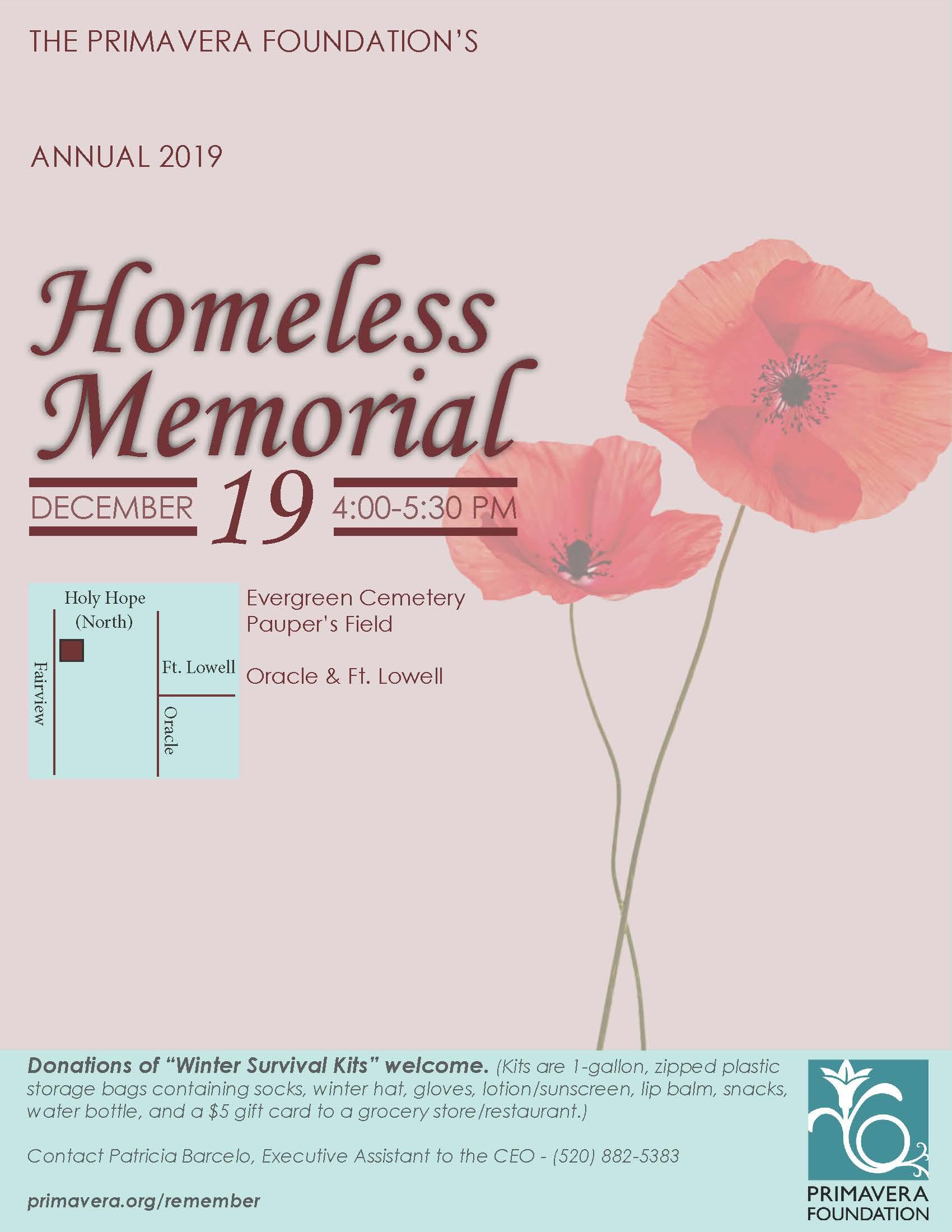 Primavera Annual Homeless Memorial