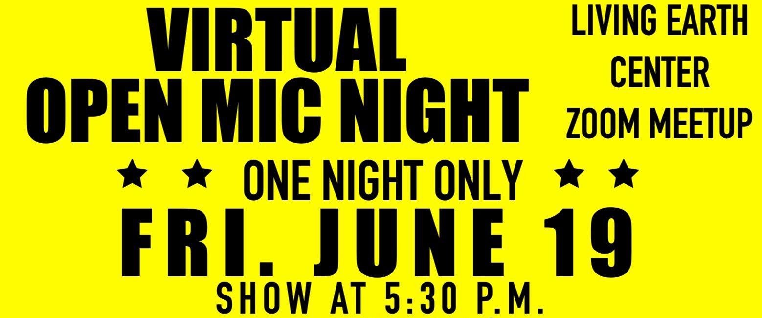 June Virtual Open Mic Night