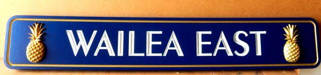 "Q21877 -  Quarterboard Sign ""Wailea East"" for a Hawaiian Coastal Residence"