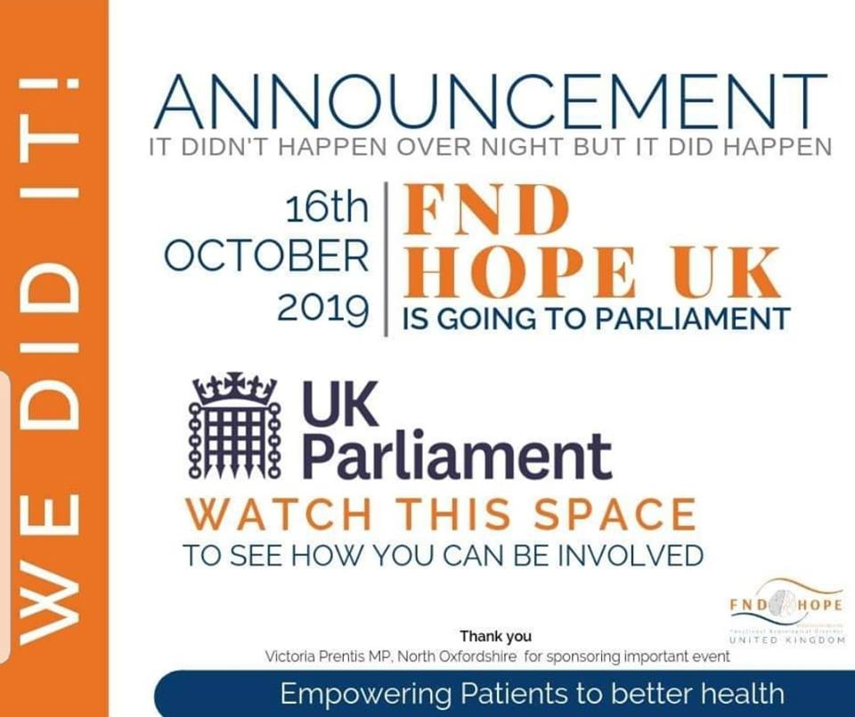 FND Hope UK is going to Parliament