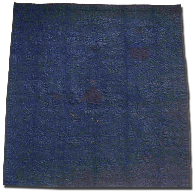 Whole Cloth quilt, possibly made by Molly Dewey, possibly made in New York, United States, circa 1790-1810, 88 x 80.5 in, IQSCM 2005.046.0001