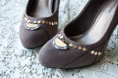 Style your prom pumps with thrifted gems from Goodwill.