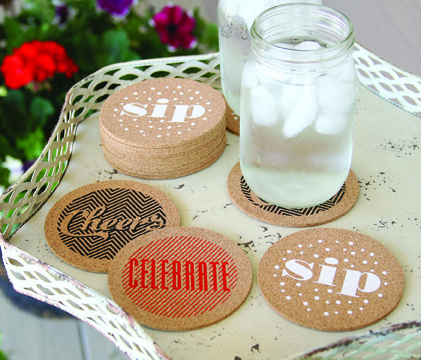 Celebrate Cork Coaster Set