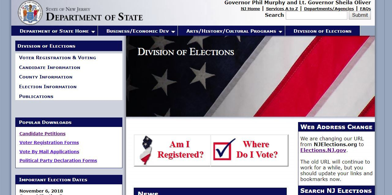 NJ Division of Elections