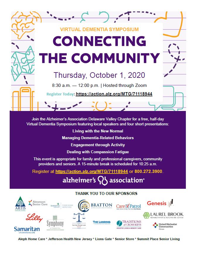 Alzheimer's Association Virtual Dementia Symposium: Connecting the Community