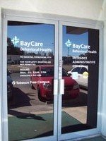 Vinyl Cut Lettering Logo Glass Door