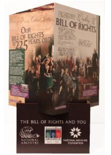 Bill of Rights exhibit at 186 Nebraska locations