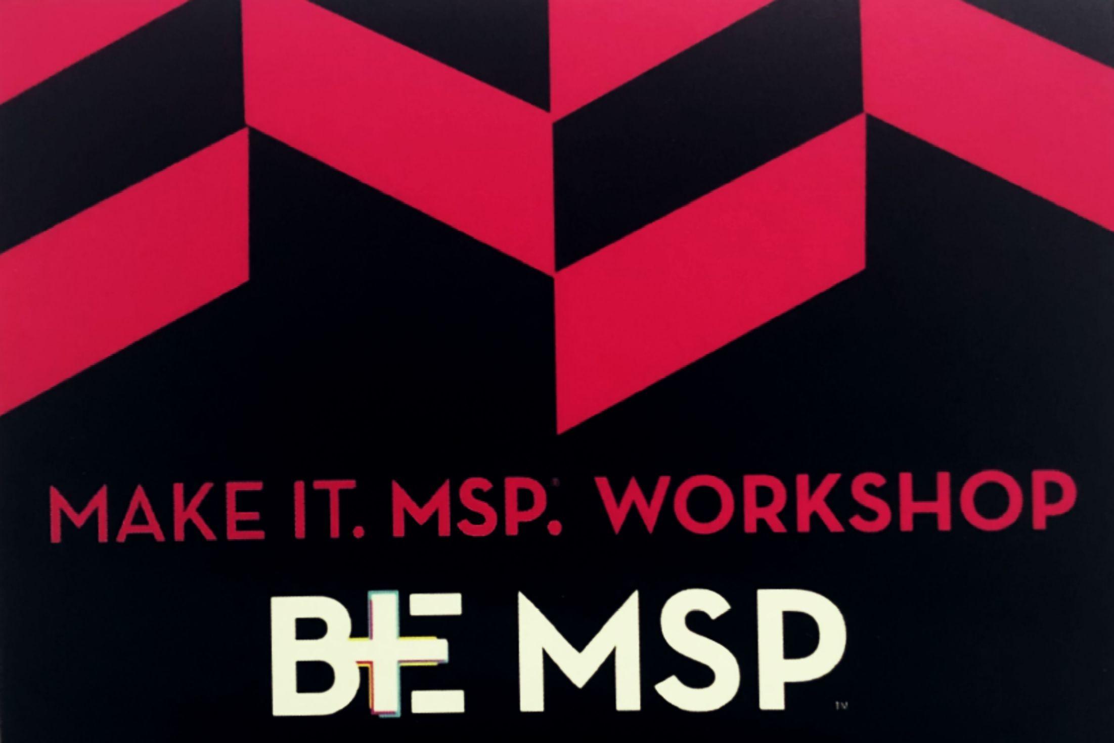 December 2019 BE MSP Workshop