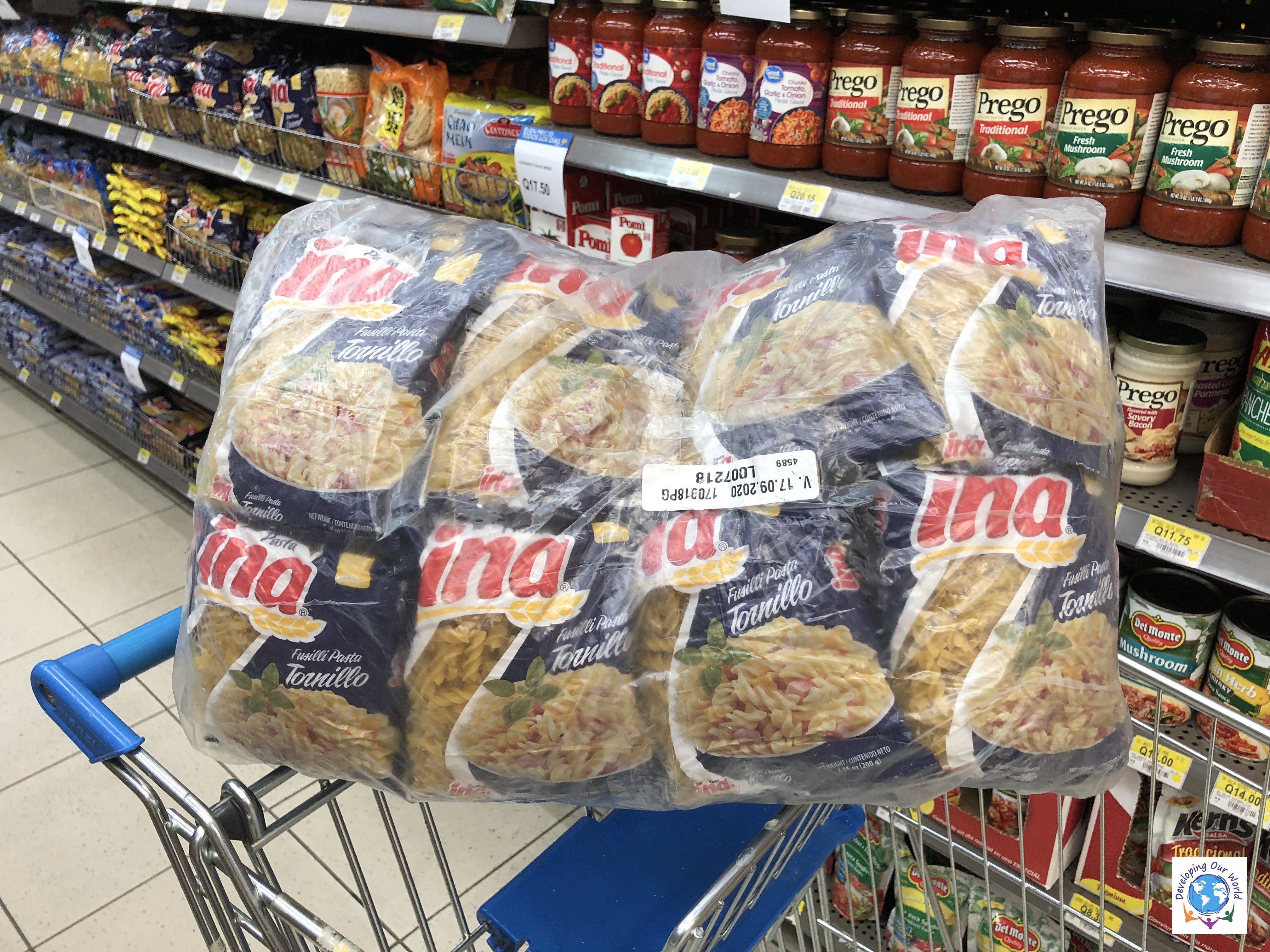 48 lbs of pasta