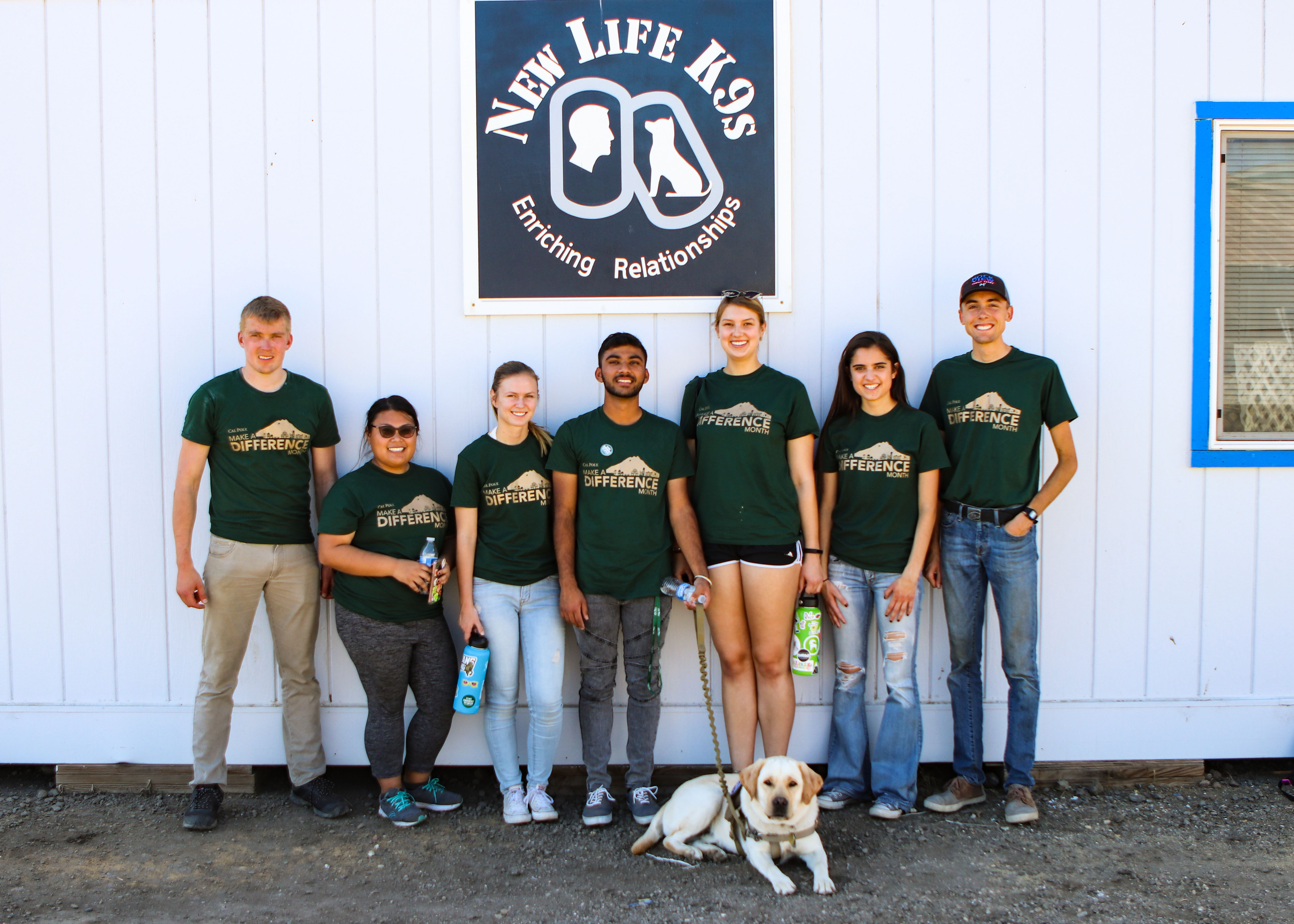 Thank you to Cal Poly Make a Difference Month Student Volunteers!