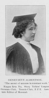 Albertson - Genevieve Albertson Shakespeare Club Memorial Scholarship