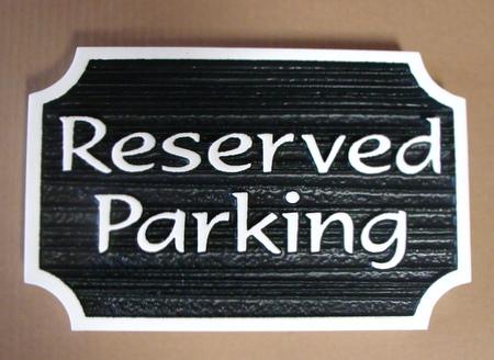KA20715 - Carved Wood Reserved Parking Sign