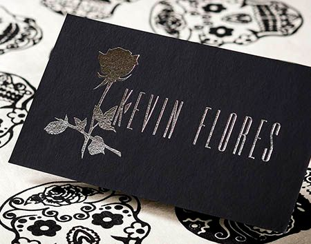 Onyx Suede Cards