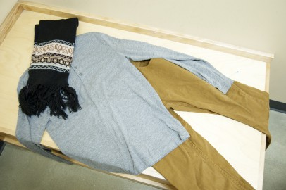 On a #goodwilldate couples pick out outfits for each other. This is the husband's outfit.