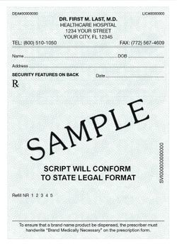 Secure Tamper Resistant Prescription Pads