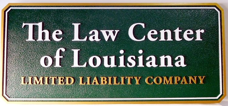 A10417 - Carved, Sandstone Finish, HDU for The Law Center of Louisiana Limited Liability Company