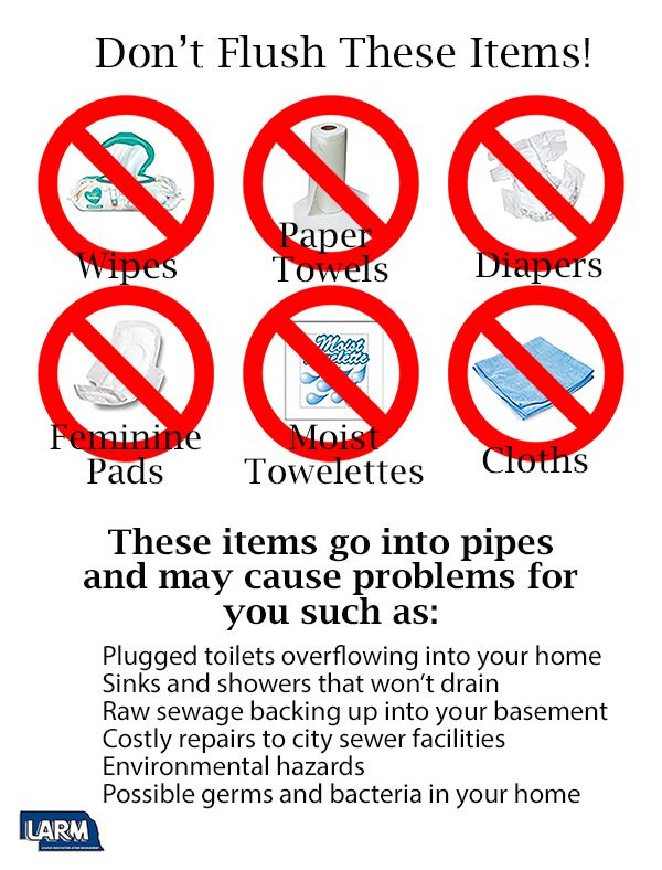 Educate your citizens to not flush these items!
