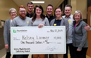 Kelsey Lorimer named 2019 Nancy Muehlhausen Counseling Award winner