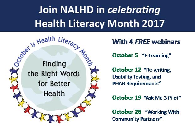 Health Literacy Month 2017
