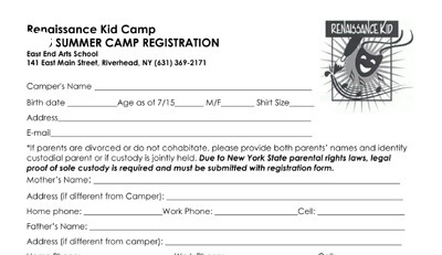 CLICK HERE to download the Renaissance Children's Camp registration form >>