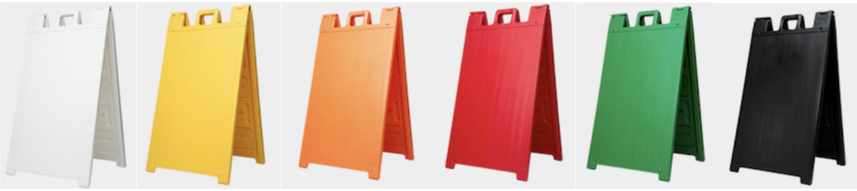 A-Frame Plastic Sign Holder
