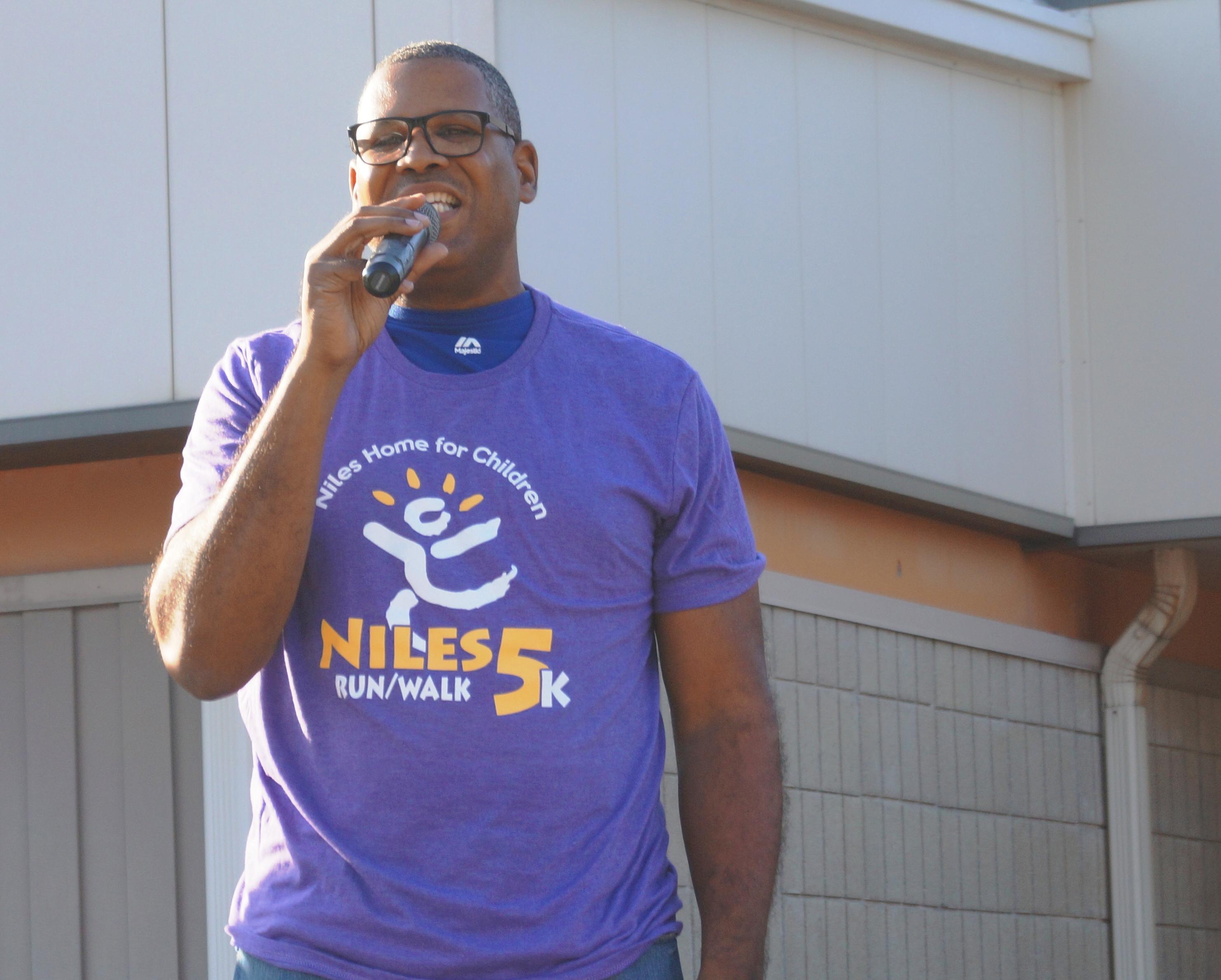 Former Board Chair Emeritus sings National Anthem