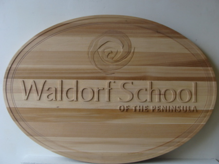 FA15674 - Carved Cedar Prep School Wall Plaque