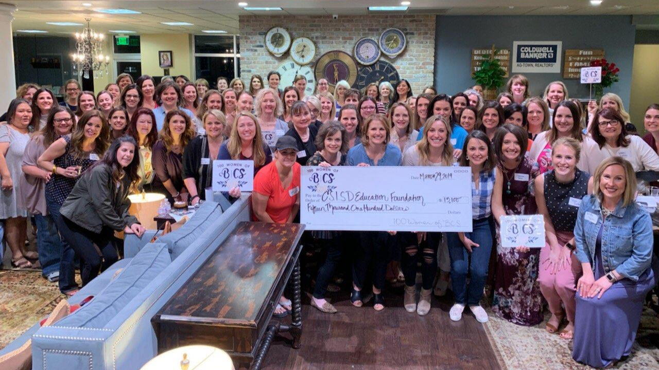 CSISD Education Foundation Receives Inaugural Donation from 100 Women of BCS