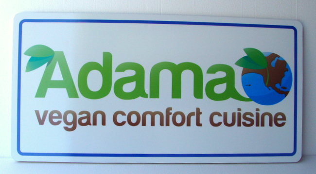 Q25627 - HDU Vega Comfort Cuisine Restaurant Sign with Image of World and Leaves