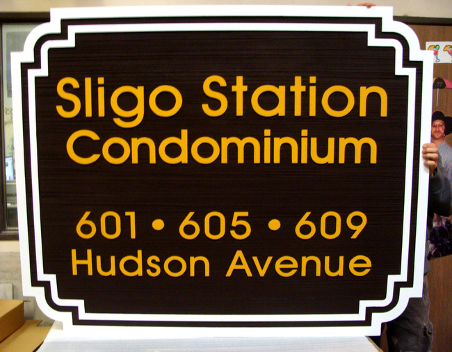 K20186 - Entrance Address Sign for Sligo Station Condominium