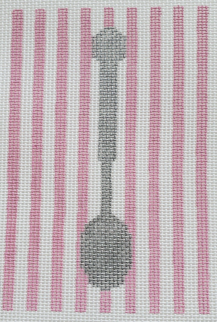 Sterling Silver Spoon, Pink