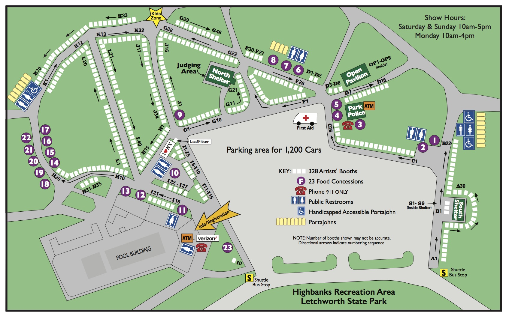 Show A Map Arts Council for Wyoming County : Letchworth Arts and Crafts Show  Show A Map