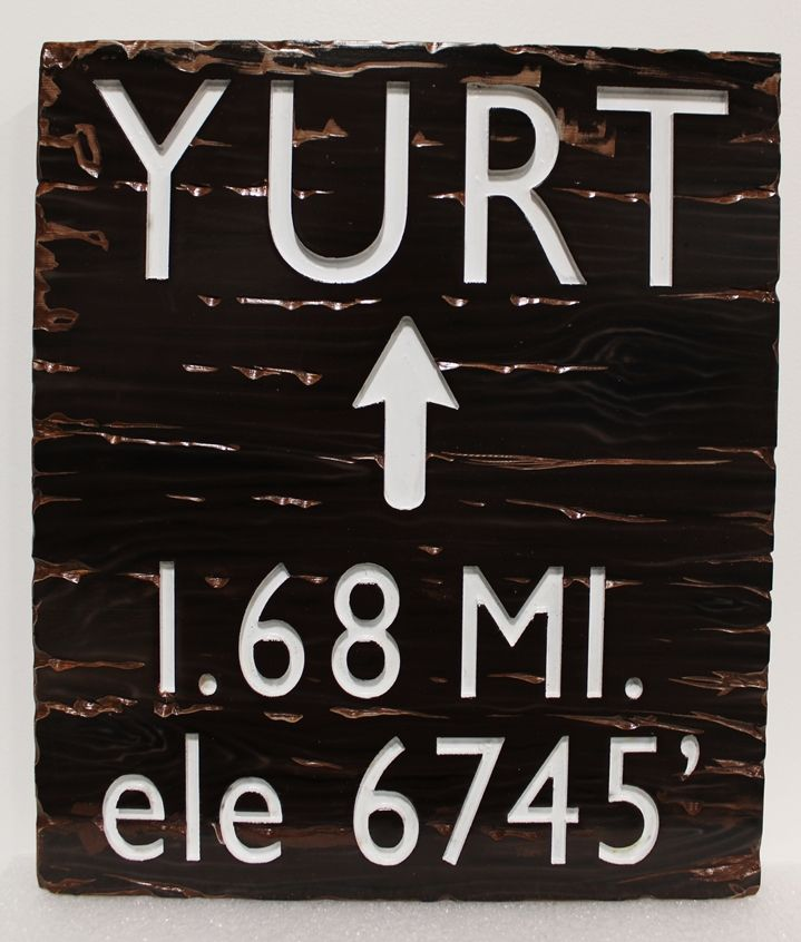 M3706 - Engraved Cedar Wood Trail  Sign (Gallery 16)