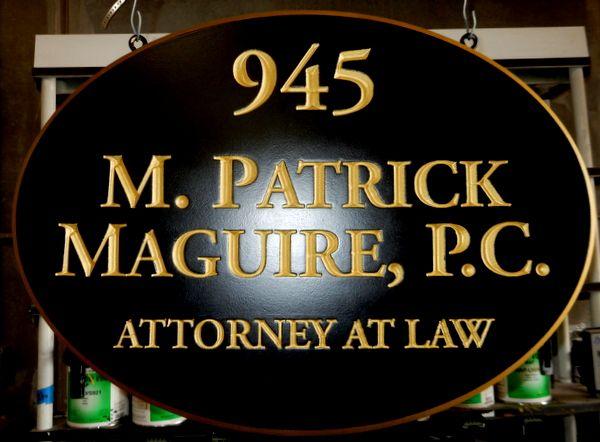 A10024 - Elegant V-Carved  HDU Hanging Sign for an Attorney