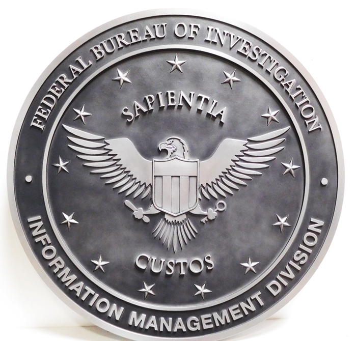 AP-2445 - Seal of the Information Management Division, FBI, Aluminum-Plated