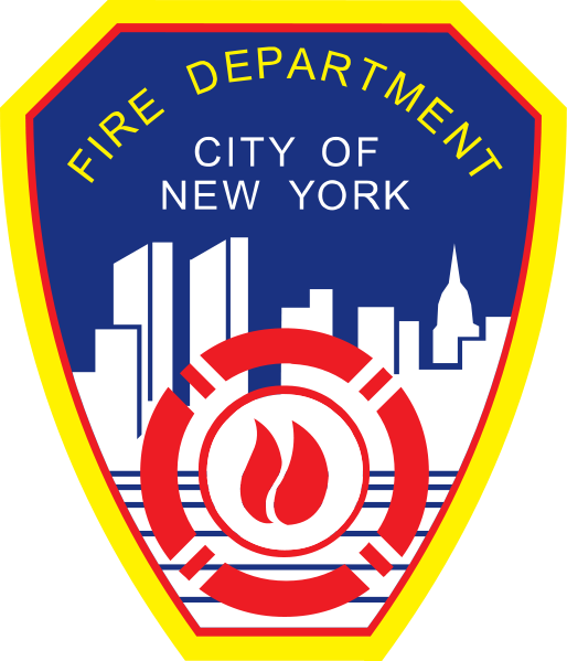 QP-2060 - Carved Wall Plaque of  the Shoulder Patch of the New York City Fire Department,  N.Y., Artist Painted