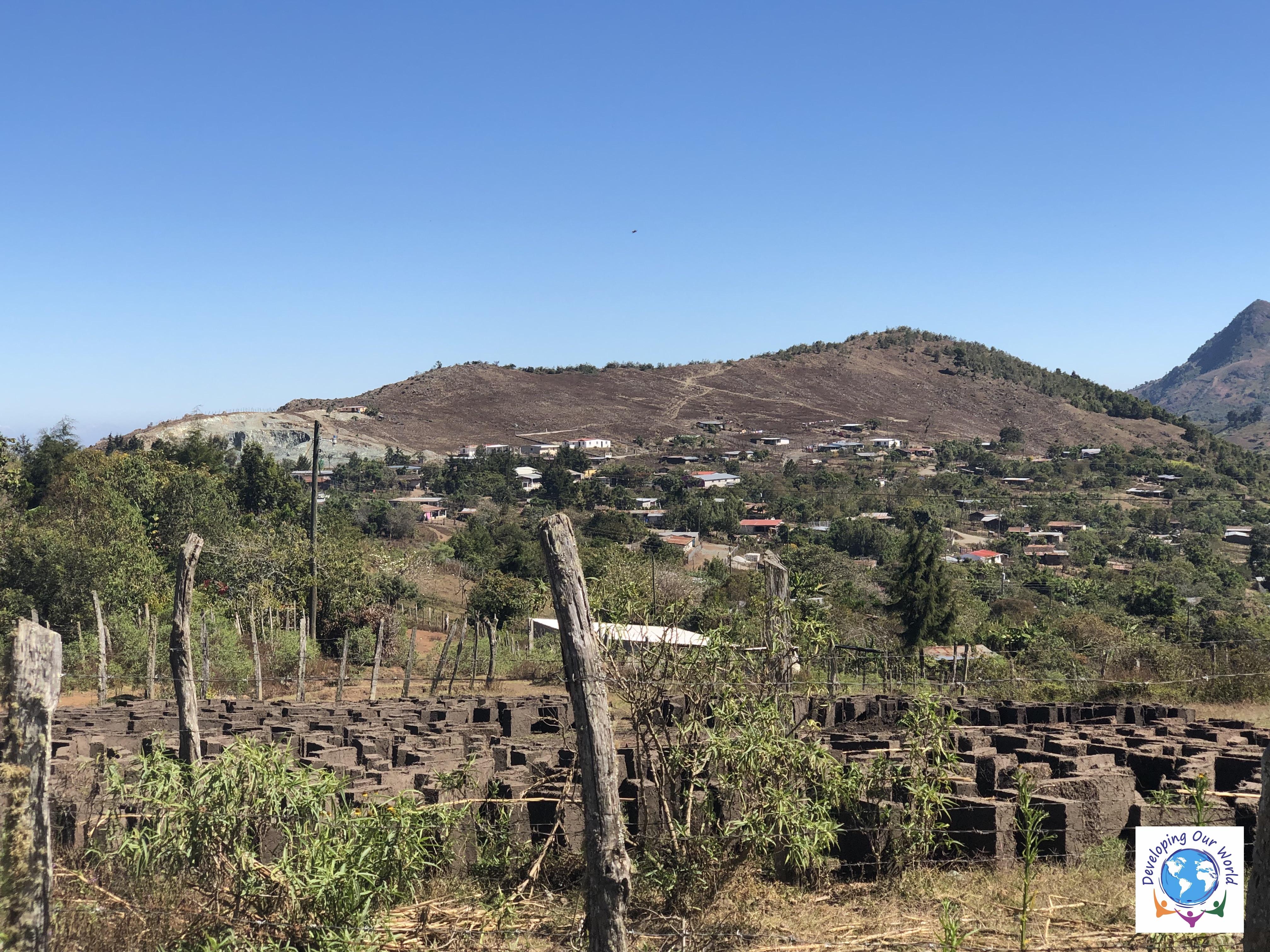 Brick factory (adobe). Village in the background