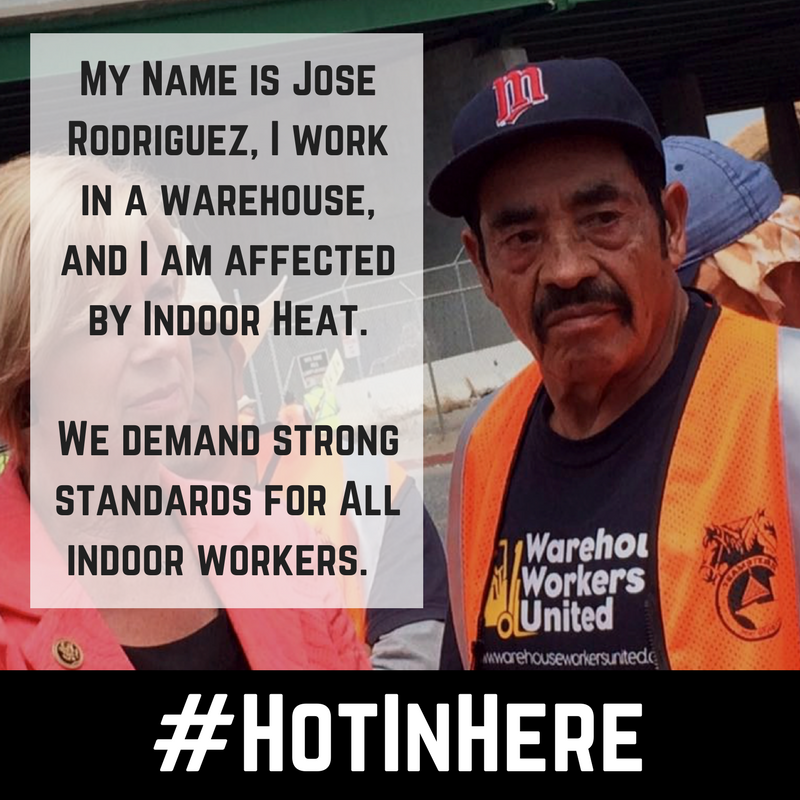 Hot In Here: Workers Demand Strong Protections from Indoor Heat Hazards