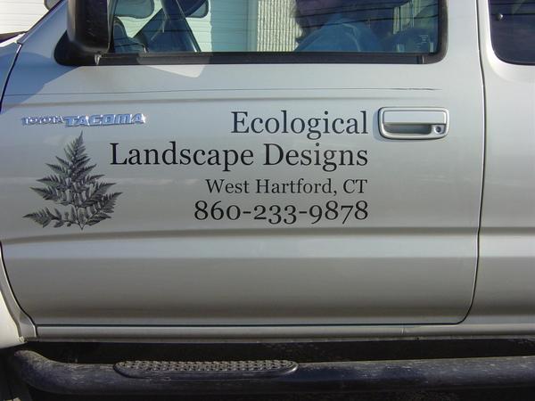 Mini Van Door Lettering & Graphics